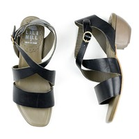 Lili Mill 5975 Black Strappy Sandal for Women - re-souL