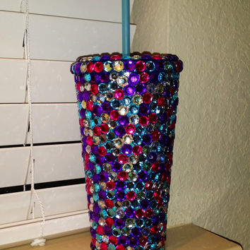 BLING Tumbler - Purple/Pink/AB/Aqua