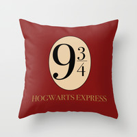 HARRY POTTER Throw Pillow by Sophie