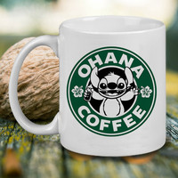 Disney Ohana Starbuck Coffee Mug, Tea Mug, Coffee Mug