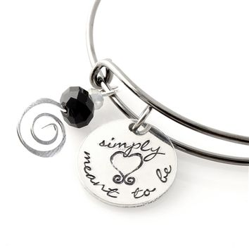Simply Meant to Be Adjustable Bangle Bracelet - Spiffing Jewelry