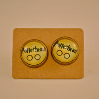 Gifts for Potterheads // Gifts for Harry Potter Fandom // Harry Potter Inspired Potterhead Antique Bronze Stud Earrings