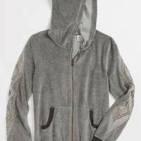 Miss Me Velour Hoodie (Big Girls) | Nordstrom