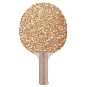 Ping Pong Table Tennis Copper Gold Glitter Paddle Ping Pong Paddle