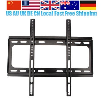 Oversea Local Slim LED TV Wall Mount Bracket Support for 26 32 39 40 42 47 48 50 Led Tv 55 Inch Free Shipping