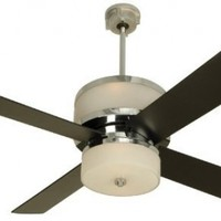 "Craftmade MO56CH4, Midoro Chrome Uplight 56"" Ceiling Fan with Light & Remote Control"