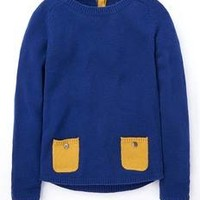 Contrast Pocket Sweater