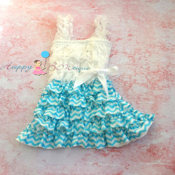 Tiffany Blue Chevron Dress, dress, baby dress,girls dress,Birthday outfit,girls outfit, flower girl dress, Chevron dress, lace dress, girls