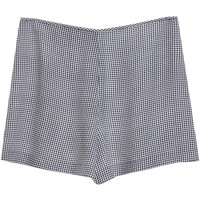 Equipment Lewis Short Black Gingham Print High Waisted Shorts