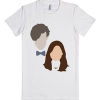 Clara and The Doctor-Female White T-Shirt