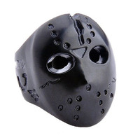 Pure Copper Jason Mask Ring Men's Cool Jewelry Accessories-Size 10