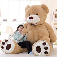"2015 hot sale Huge Giant Teddy Bear 93"" 8 Feet 240cm High Quality Plush Toys Birthday Valentine's Day Girlfriend Gifts FREE EMS"