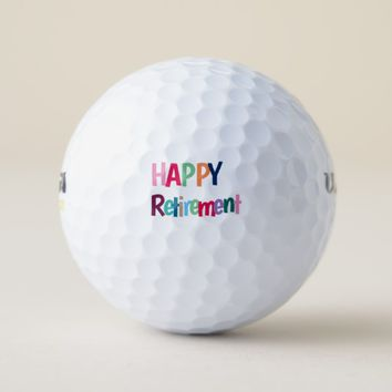 Happy Retirement Golf Balls