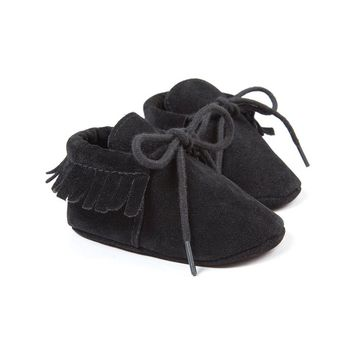 R&V Unisex Infant Baby Boys' Girls' Moccasins Soft Sole Tassels Prewalker Anti-Slip Toddler Shoes