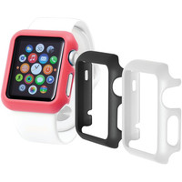 TRIDENT OD-APWG03-BWP00 Apple Watch(R) Odyssey Guard Cases, 3 pk (38mm, Black/White/Pink)