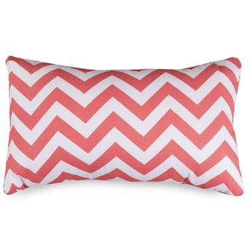 Coral Chevron Small Pillow