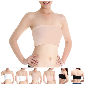 Sexy Womens Ladies Girl Bandeau Strapless BoobTube Sports Bra Vest Crop Top Bras = 1933141316