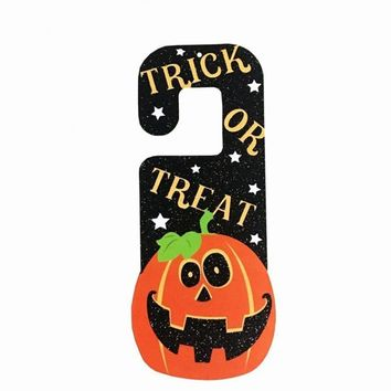 NEW Halloween Paper Pendant Ghost Festival Witch Door Hanging Pumpkin Bats Ghosts Door Ornaments Home Decoration