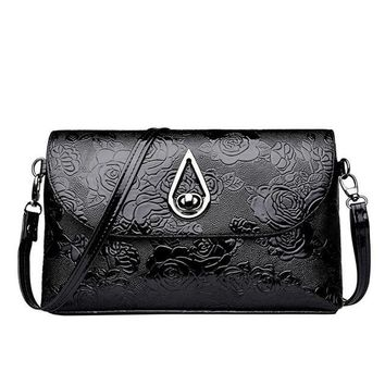 Aelicy High Quality Patent Leather Women Bag Ladies Cross Body Messenger Shoulder Bags Vintage