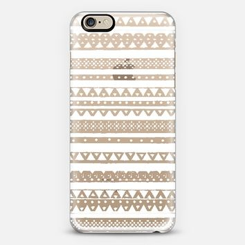 WHITE TRIBAL - CRYSTAL CLEAR PHONE CASE iPhone 6 case by Nika Martinez | Casetify