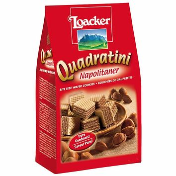 Loacker Quadratini Hazelnut Wafer Cookies 8.8 oz