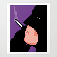 The secret life of heroes - BatSmoke Art Print by Greg-guillemin