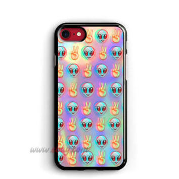 Psychedelic iPhone Cases Alien Emoji Samsung Galaxy Cases Pattern iPod cover