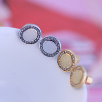 Accessory Alphabet Simple Design Earring Jewelry [6573088903]
