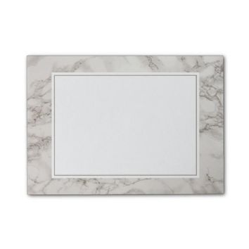 Faux Marble Alabaster Taupe Tan Modern Post-it Notes