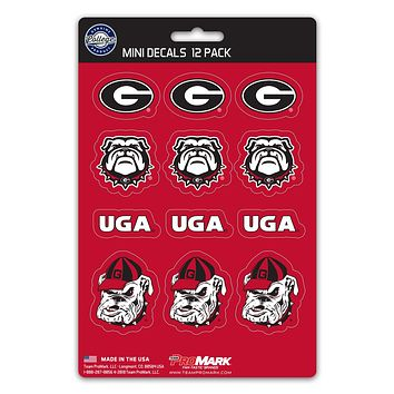 Georgia Bulldogs Decal Set Mini 12 Pack