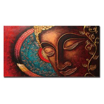 Buddha meditation Canvas Painting Wall Art poster Abstract cheap Painting cuadros decoracion Tableau Peinture Sur Toile Unframed