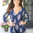 Napa Weekend Romper - Navy and Taupe