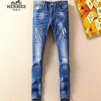 Boys & Men Hermes Fashion Casual Pants Trousers Jeans