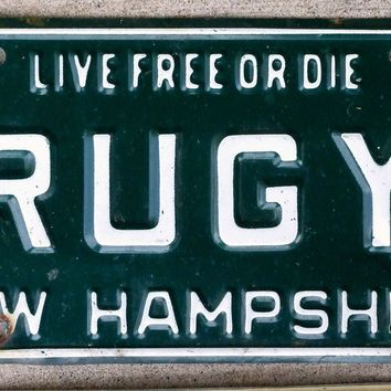 1975 New Hampshire License Plate RUGY