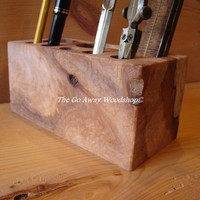 Spalted maple desk caddy