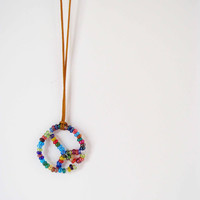 Peace Necklace by AllBeta on Etsy