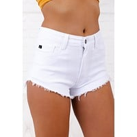 Capture My Attention KanCan Shorts (White)