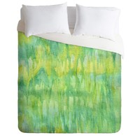 Lisa Argyropoulos Watercolor Greenery Duvet Cover