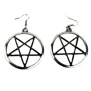 "2"" Large Woven Pentagram Earrings Cosplay"