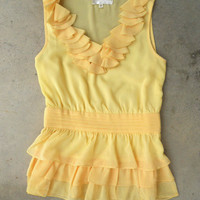 Sweet Buttercup Blouse [3343] - $28.00 : Vintage Inspired Clothing & Affordable Fall Frocks, deloom   Modern. Vintage. Crafted.