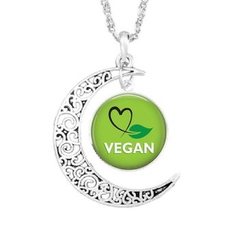 Halfmoon Vegan pendant/necklace