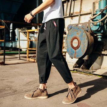Summer Men's Fashion Linen Cotton Linen Pants [10833224387]