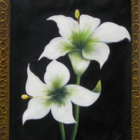 The White Lilies Oil Painting