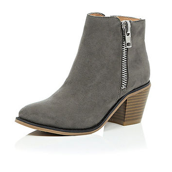 River Island Girls grey ankle boots