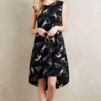 Leonard Street Sloth Swing Dress in Black Motif Size: