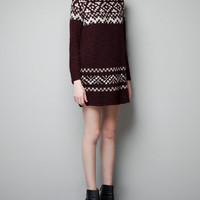 JACQUARD KNIT DRESS - Dresses - Woman - ZARA United States