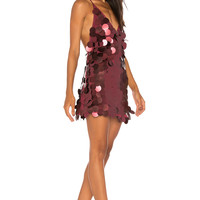 Motel Finn Dress in Rose Sequin | REVOLVE