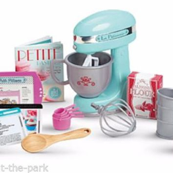 "NEW 2015 American Girl Grace Thomas Baking Set MyAG 18"" Doll Food Dishes Mixer"