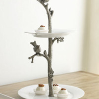 "Vagabond House - ""Bird"" Two-Tier Dessert Stand - Horchow"