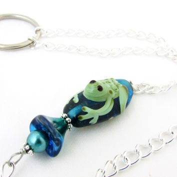 Frog Eyeglass Necklace